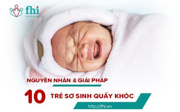 nguyên nhân và giải pháp trẻ sơ sinh quấy khóc
