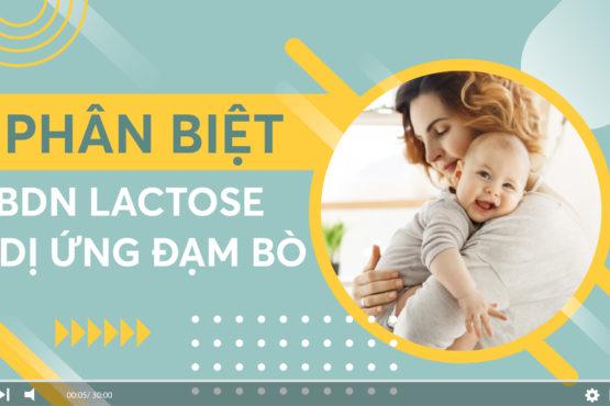 [VIDEO] Phân biệt bất dung nạp lactose và dị ứng đạm sữa bò