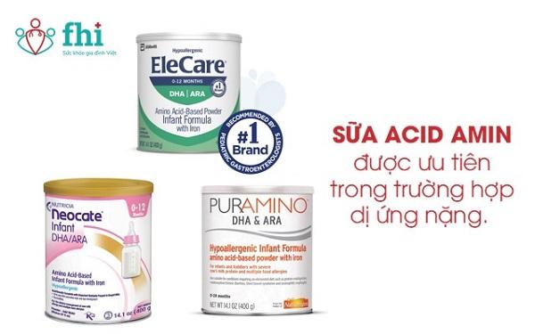 sữa acid amin cho trẻ dị ứng đạm bò