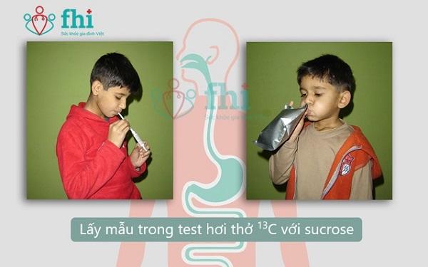 xét nghiệm hơi thở trong bất dung nạp lactose