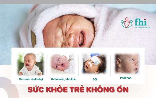 trẻ sơ sinh quấy khóc do sức khỏe không ổn