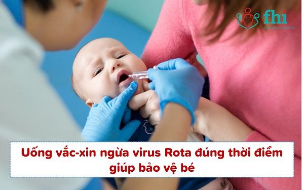 uong vaccine rota phòng tiêu chảy ở trẻ