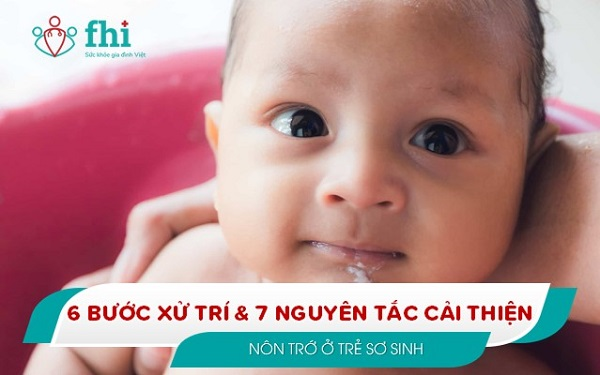 xử trí và cải thiện nôn trớ ở trẻ sơ sinh