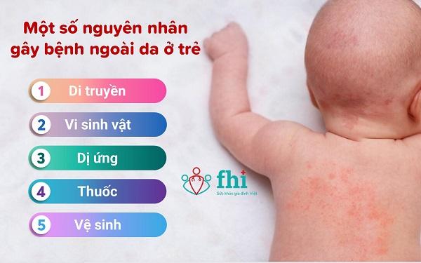 nguyên nhân bệnh ngoài da ở trẻ