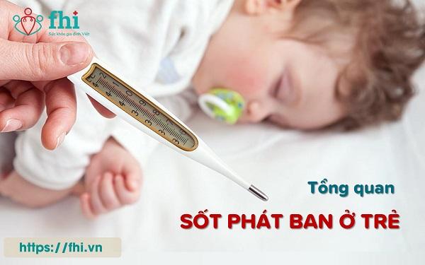 sốt phát ban ở trẻ