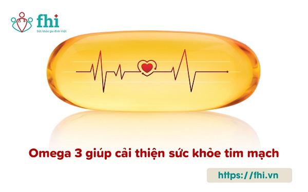 vai trò của omega với tim mạch